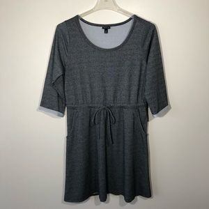 Torrid Grey Knit Draw String Dress  SZ 0